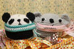 вязаные крючком амигуруми панда и коала