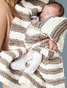 Ravelry: In A Wink Baby Blanket pattern by Bernat Design Studio