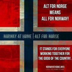 This motto became especially meaningful as one of the main symbols of the Norwegian struggle during the occupation in WWII. It holds its value still as a reminder we stand together or fall together. #norsk #norway #wwii #norge #homeofthebrave #nohate