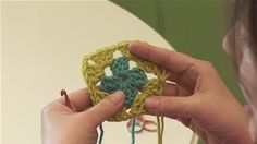 How To Crochet A Granny Square Left Handed (Crocheting)