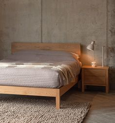 Solid oak Malabar bed from Natural Bed Company. Solid oak Malabar bed from Natural Bed Company. Wood Bed Design, Bed Frame Design, Bed Designs In Wood, Home Bedroom, Bedroom Decor, Bedrooms, Simple Bed Designs, Wooden Bed Frames, Solid Wood Bed Frame