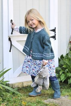 knit - Cotton Sweet Cardi, by Erika Flory, for Blue Sky Alpacas.  For my daughter, sometime soon...