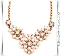 #rhinestone #pearl #statement #necklace #bizsukcom