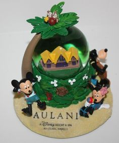 New Disney Parks Aulani Hawaii Snow Globe Mickey Minnie Donald Goofy Stitch Chip