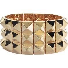 Noir Jewelry Gold studded bracelet ($165) ❤ liked on Polyvore