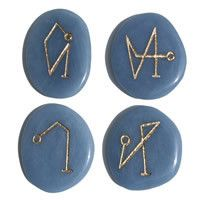 Back in Stock! Archangel Pocket Stones on Angelite *Limited Quantity!