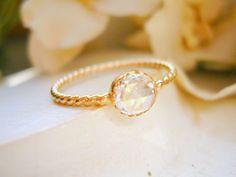 Custom 5mm Rose Cut Diamond Solitaire Ring von NatsukoJewelry, $1800.00