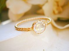 Custom Rose Cut Diamond Solitaire Ring Unique Engagement Ring Dainty Diamond Ring - made to order in your finger size