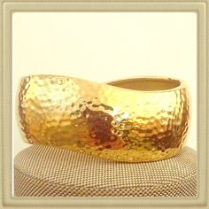 "ONE HOUR SALE! Gold tone cuff bracelet Excellent condition. Approx 7.5"" around Jewelry Bracelets"