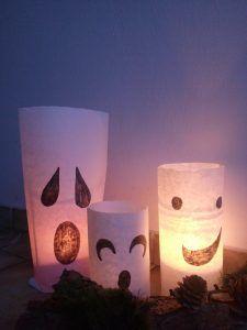 Super Last-Minute Halloween Deko Last Minute, Candle Holders, Candles, Halloween, Deco, Porta Velas, Candy, Candle Sticks, Spooky Halloween