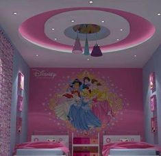 Girls and kids room gypsum bouard decor vicky в 2019 г. Drawing Room Ceiling Design, Gypsum Ceiling Design, House Ceiling Design, Ceiling Design Living Room, Bedroom False Ceiling Design, Room Door Design, Bedroom Bed Design, Ceiling Light Design, Ceiling Decor