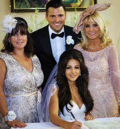 Mark and Michelle. Princess Wedding, Wedding Bride, Dream Wedding, Wedding Dresses, Church Wedding, Wedding Things, Wedding Hair And Makeup, Bridal Hair, Hair Makeup
