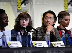 'The Walking Dead' TV series panel, Comic-Con International, San Diego, USA - 22 Jul 2016  Danai Gurira, Chandler Riggs, Steven Yeun and Lauren Cohan  22 Jul 2016