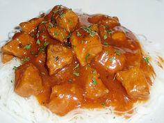 Les délices de Maya: Mijoté de porc à la chinoise (mijoteuse) Chicken Wings, Crockpot, Slow Cooker, Curry, Maya, Healthy, Ethnic Recipes, Food, Instant Pot