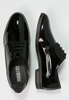 Femme Pier One Derbies - black noir: 59,95 € chez Zalando (au 01/06/16). Livraison et retours gratuits et service client gratuit au 0800 740 357.