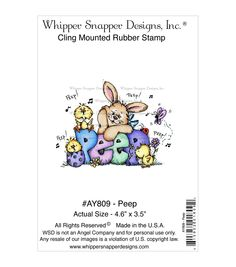 Whipper Snapper Designs Cling Stamp-Peep