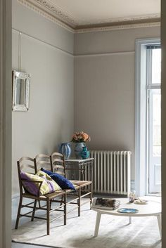 Farrow & ball purbeck stone 275 farrow and ball living room, farrow and ball paint Farrow And Ball Living Room, Farrow And Ball Paint, Farrow Ball, Farrow And Ball Kitchen, Living Room Decor Colors, Decor Room, Room Colors, Bedroom Paint Colours, Home Decor