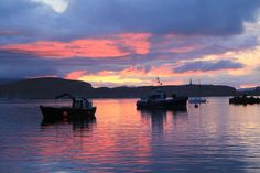Sunset over Kerrera Island of Oban, Scotland