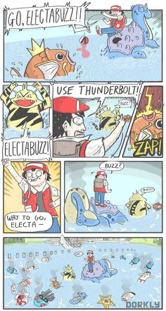 Pokemon Buzzkill, An Electrifying Comic by Dorkly