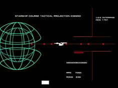 Star Trek: The Motion Picture (1979). Starship Course Tactical Projection UI. #UI #startrek