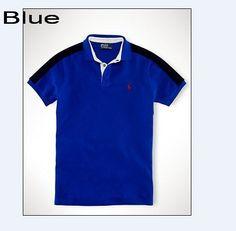 Polo Ralph Lauren Men Contrasting Striped Along Sleeve Shirts Blue