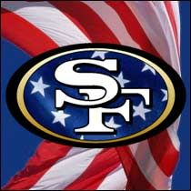 God bless America and God bless the San Francisco Sf Forty Niners, Sf Niners, Nfl 49ers, 49ers Fans, Football Fans, Niners Girl, 49ers Nation, Vikings Football, Minnesota Vikings