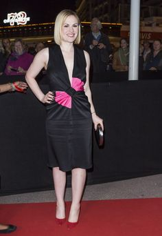 Actress Anna Paquin wearing the new iconic bow dress at the MIP TV Gala in Cannes.