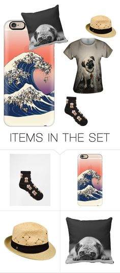 """Party of pugs"" by thehorseyfasions ❤ liked on Polyvore featuring art"