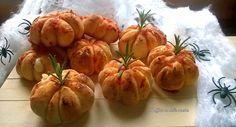 Zucche di Pan brioche ripiene per halloween