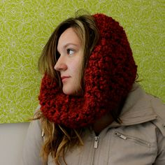 Items similar to Gem Cowl on Etsy Chunky Yarn, Hand Crochet, Warm And Cozy, Cowl, Facebook, Trending Outfits, Check, Handmade, Etsy