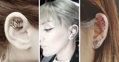 Estos 24 tatuajes súper femeninos son una alternativa a los piercings de las orejas - IMujer