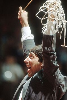 The greatest moment in college sports history! North Carolina State Coach Jim Valvano, 1983 NCAA National Championship Picture at NC State Wolfpack Photos Nc State Football, Nc State Basketball, Sports Basketball, Wolfpack Basketball, Basketball History, Basketball Stuff, Basketball Socks, Sports Wall, College Basketball