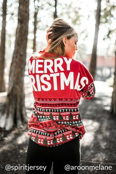 The only place to get an Authentic Merry Christmas Ugly Christmas Spirit Jersey® Pullover