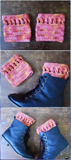 Crochet Twisty Cuffs Free Pattern - Crochet Boot Cuffs Free Patterns