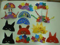 αποκριατικες μασκες απο χαρτινα πιατα - Αναζήτηση Google Carnival Crafts, Carnival Costumes, Paper Plate Masks, Paper Plates, Nursery School, Kids Education, Crafts For Kids, Kids Rugs, Seasons