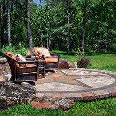 Custom Texas Star Inlay Design Ideas, Pictures, Remodel and Decor  |  Not in Texas, but love this Star Patio  |  hou.com