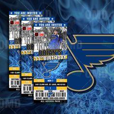 12 Pittsburgh Penguins Custom Birthday Party Ticket