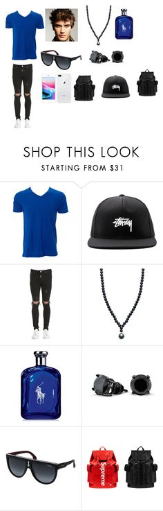 """""""Causal Day"""" by arianna-mitchell-1 on Polyvore featuring Simplex Apparel, Stussy, Represent, ORA Pearls, Ralph Lauren, Bling Jewelry, Carrera, Louis Vuitton, men's fashion and menswear"""