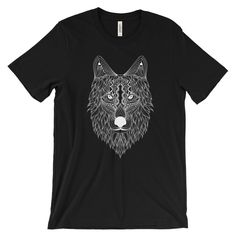Now available in our store. Check it out here http://j-s-graphics.myshopify.com/products/abstract-tribal-wolf-head-unisex-short-sleeve-t-shirt?utm_campaign=social_autopilot&utm_source=pin&utm_medium=pin