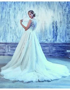 Romantic fairytale lace gown available at Spotlight Formal Wear! #SpotlightBridal