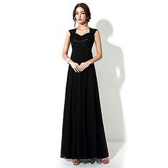 066246168eb3 A-line QueenAnne Floor-length Evening Dress – USD   79.99 Chiffon