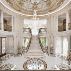 Enhance Your Senses With Luxury Home Decor Mansion Interior, Luxury Homes Interior, Luxury Decor, Classic House Design, Dream Home Design, Luxury Staircase, Home Stairs Design, Fancy Houses, Luxury Homes Dream Houses