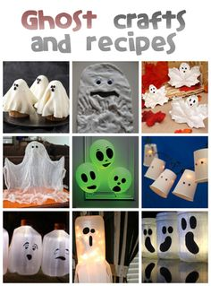 Ghost Crafts & Recipes - Fun Family Crafts