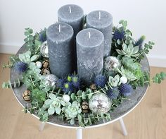 Adventskrans anno 2016 You are in the right place about DIY Wreath succulent Here we offer you the most beautiful pictures about the DIY Wreath you are looking for. When you examine the Adventskrans a Christmas Advent Wreath, Christmas Candle Decorations, Advent Candles, Christmas Mood, All Things Christmas, Christmas Crafts, Christmas Ideas, Christmas Interiors, How To Make Wreaths