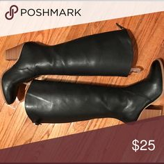 Black boots Used once, from Just Fab tall black boot JustFab Shoes Heeled Boots