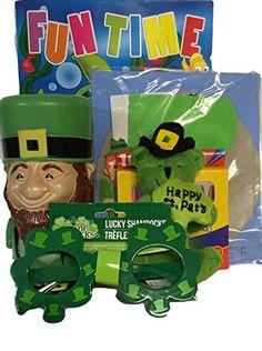 "Gift Set St. Patrick's Day Leprechaun Cup, Plastic Glasses, Fun Time Coloring Book,crayons, 4"" Plush Green Bear, Pot of Gold Kit 6pc Bundle St. Patricks Day http://smile.amazon.com/dp/B00U1ZL4R2/ref=cm_sw_r_pi_dp_BfC.ub1JRJWG7"