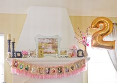 pink and gold Birthday Party Ideas | Photo 22 of 38 | Catch My Party