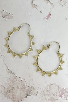 Helen & sienna -dani earrings- Bohemian inspired hoop earrings in many different modal made out of 24 gold pated brass and are perfect for the ultimate boho bride