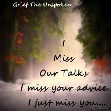 Sinto uma falta imensa de conversar com você.