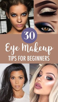 30 Eye Makeup Tips For Beginners Interested in makeup, but don't know where to start? These eye makeup tips and tricks will help you to master makeup application in no time! Eye Makeup Tips, Smokey Eye Makeup, Makeup Ideas, Makeup Tutorials, Eyeshadow Tutorials, Makeup Stuff, Makeup Bags, Makeup Tricks, Makeup Geek